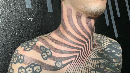 Freehand neck, all other Tattoos by amazing Luis Jade