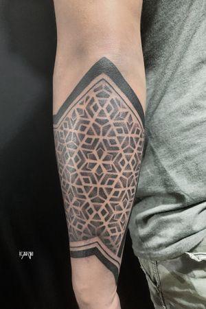 Sleeve in progress #pattern #geometrictattoo #dotwork #blackwork #sacredgeometry