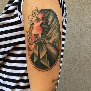 Tnx to Nicole! #womantattoo #tattoodo #traditionaltattoo #woman #traditional #tattoo