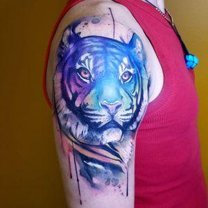 Rainbow Tiger #rainbow #rainbowtiger #tigerhead #tigertattoo #colortiger #watercolortattoo #watercolour #watercolourtattoo #watercolor #watercolortattoos #watercolourtattoos #watercolors #watercolortattooartist