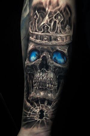 Skull King #skullking #torontotattoo #torontotattoos #skull