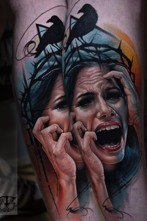 One session...#colortattoo #realistictattoo #bloodytattoo  #tattoo #tattoos #tattooed #inked #ink #inked #inklife #stuttgart #mannheim #mireltattooartgallery #tattoolife #insane