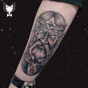Custom viking drawing graphic style