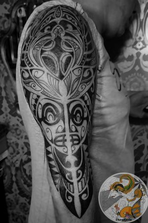 Did this last session of Freehand Maori Tattoo as Cover up for his old Tattoo for Frank. Tag your friends who love Maori Tattoos. . . . . #maoritattoo #neopolynesiantattoo #tribaltattoo #lineworktattoo #blackworktattoo #freehandtattoo #hendjerin #kayontattooatelier #tattoo