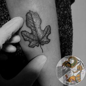 Did this Minimalistic Maple's Leaf tattoo design from 1 of my Flashes for Josi. . . . . . #smalltattoo #hendjerin #finelinetattoo #minimalisttattoo #tattoo #leaftattoo #minimalistictattoo #naturetattoo #minimaltattoo #tattoo #tattooart #vegantattoo #veganink #vegantattooink #lineworktattoo #dotworktattoo