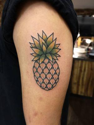 Old school pineapple tattoo