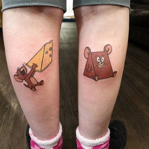Jerry tattoo from Tom & Jerry