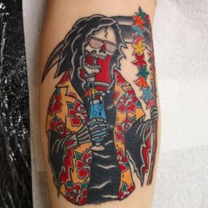 Grim Reaper on holiday tattoo