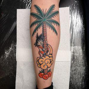 Old school Dragon Ball Z tattoo