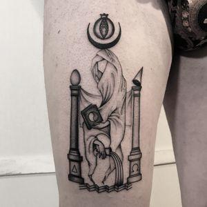 #totemica #buioOmega #tunguska #black #tarot #highpriestess #papessa #magic #tattoo #tattooriver #vicenza #italy #blackclaw #blacktattooart #tattoolifemagazine #tattoodo
