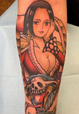 Boa Hancock! #onepiece #anime #animetattoo #nerdtattoo #tattoobabe #boahancock #luffy #zoro #manga #colortattoo #slavearrow #cartoon #strawhats #pirates