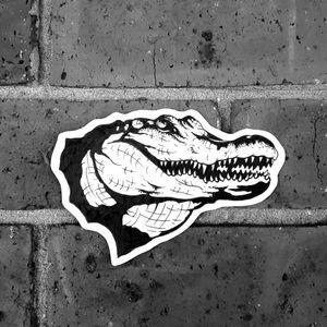 Crocodile head tattoo flash design #crocodiletattoo