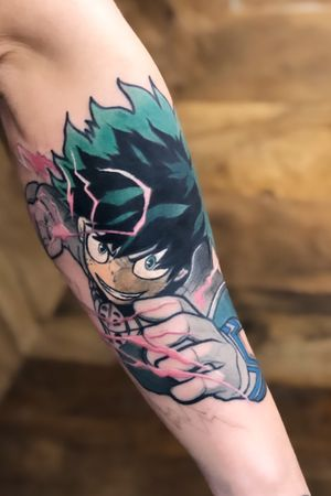 Almost done with Deku! I would love to do more My Hero Academia! Message For Appointment Information! #dekutattoo #deku #myheroacademia #myhero #anime #comic #color