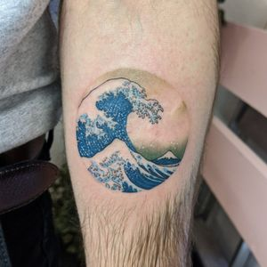The Great Wave. This is the second time I've done this design and it's always such an honor. How can you not love Hokusai.