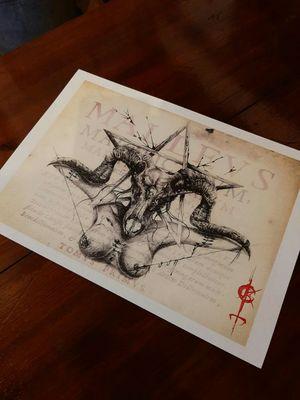 New prints available !!!!for info link in bio. #lilithdivineartist #madnesscircus #horrorart #DarkArt #darkartist #ladyhorror #satanicgoat #pentagrams #lilithdivinetattoo