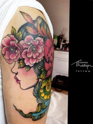 Virgo #tattoolife #tattooart #tattoo #tattoos #neotraditionaltattoo #neotraditional #tattooflower #tattoostudio #flowers #tattooface #photooftheday #likeforlike #like4like #instagood #instalike #tattooforwomen #tattooforman #tattooidea #face #inked #ink #womanface #virgotattoo #virgo #womantattoo #woman #rosolini #tattoostudio #tattooarm #colortattoo