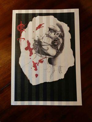 New prints limited edition for info,link in bio. #DarkTattoos #DarkArt #ladyhorror #lilithdivineartist #madnesscircus #horrorart