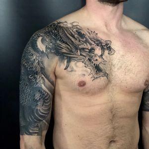 Dragon coverup tattoo