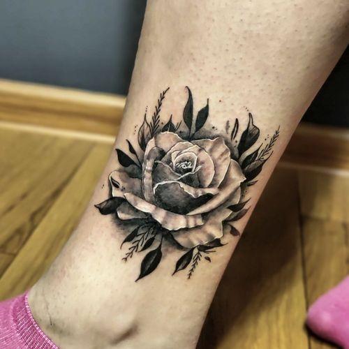 """Special """"Rose"""" for Tatiana - Hiding some small and light scar ◾ #тату #роза #trigram #tattoo #rose #inkedsense"""