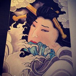 Giesha painting