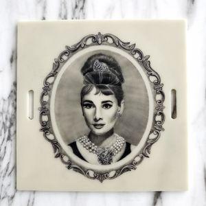 Micro tattoo of Audrey Hepburn 🖤 #portrait #microtattoo #blackandgrey