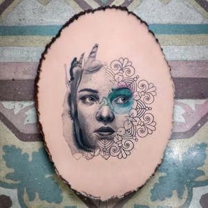 Large Portrait on a pound of flesh (practice skin)