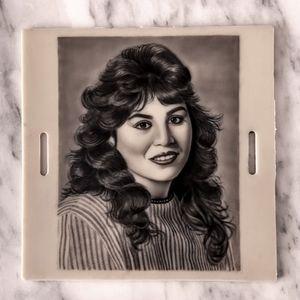 Micro portrait of my beautiful mum from an 80s photo ❤️ #realism #smalltattoo #portrait #blackandgrey