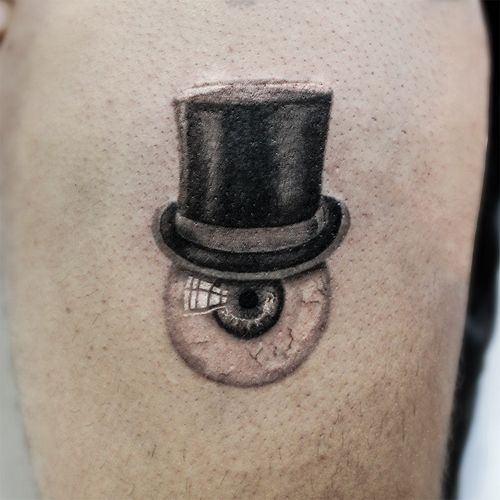 Surrealistic hat 🎩 #smalltattoo #surrealism
