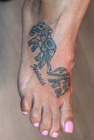 Mother Elephant Tattoo #tattoo #tattoos #tattooing #tattooflash #brooklyn #queens #newyork #nyc #cute #love #picoftheday #tattooed #fall #newyorktattoo #blackwork #blacktattoo #tattooideas #tattoostyle #tattooartist #tattooist #tattooer #spring #summer #elephant #elephanttattoo #mothertattoo #mother #grandmother #grandma #tributetattoo #decorative #decorativeelephant