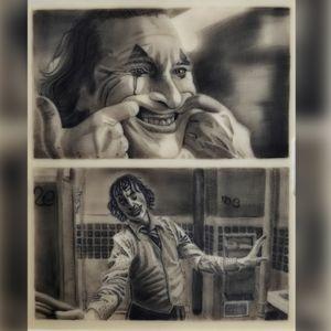 Joker Micro tattoo - #realistic #Joker #microtattoo #portrait #blackandgrey