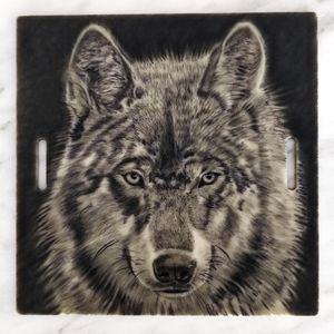 Wolf Tattoo on 15cm Practice skin #realism #wolf #blackandgrey