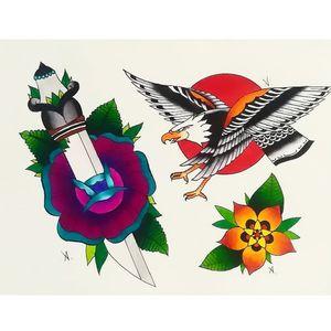 🖤✒️🔥 #oldschooltattoo #oldlines #traditionaltattoo #colortattoo #art#arttattoo #tattoolover #sketch #illustration#drawing #painting#prove #flower  #loveflowers #eagle #traditionaleagle  #followme #inkstagram