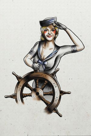 #sailor #traditional #pinup #shipwheel #kendall #miami #noappointmentneeded