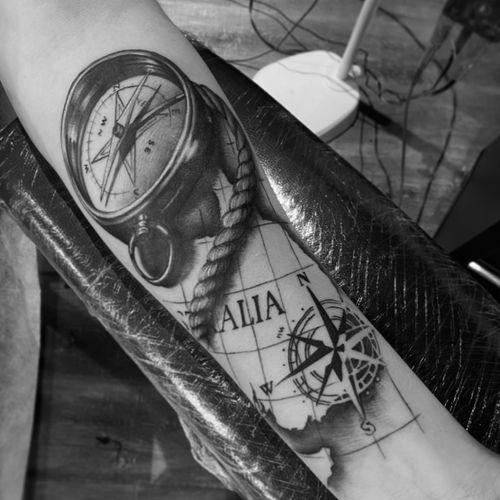 #realism #blackandgray #nautical #compass #map #nauticalstar
