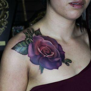A super fun purple/pink rose I tattooed at Bombshell Tattoo in Edmonton. #tattoo #tattoos #ink #inked #tattooidea #tattooideas #amazingtattoos #realismtattoo#femininetattoos #tattoodesign #besttattoos #amazingtattoo #superbtattoos #fusionink #tattoodo #