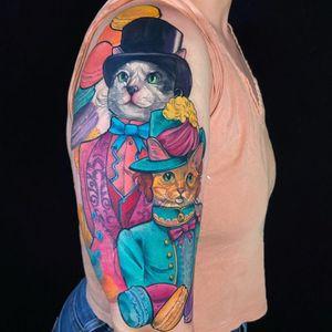 ARISTOCATS  #tattoosbyjorell #tattoos #tattoo #cattattoo #cattoos #cattoo #catportrait #neotraditionaltattoos #neotraditionaltattoo #petportrait