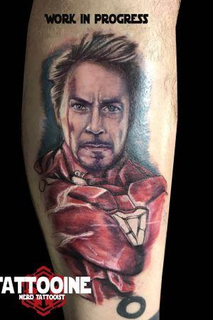 Iron man the end. Work in progress #tattooartist #tattoos #blackandgreytattoo #tattoo #picoftheday #pictureoftheday #blackandwhite #blackandgreytattoo #horror#horrortattoo #nerd #nerdtattoo #comic #comictattoo #marvel #marveltattoo #dc #dctattoo #drawings_academy #color #colortattoo #ironman