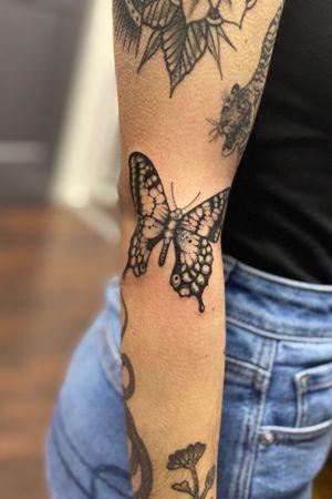 Blackwork butterfly #blackworktattoo #blackwork #butterflytattoo #butterfly