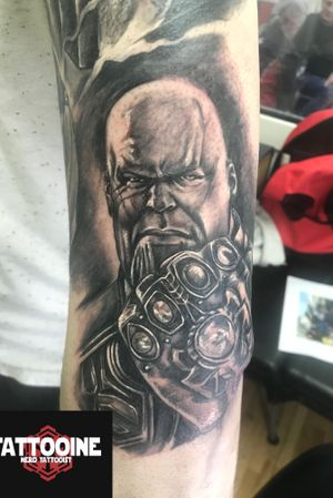 Thanos #tattooartist #tattoos #blackandgreytattoo #tattoo #picoftheday #pictureoftheday #blackandwhite #blackandgreytattoo #horror#horrortattoo #nerd #nerdtattoo #comic #comictattoo #marvel #marveltattoo #dc #dctattoo #drawings_academy #color #colortattoo #ironman