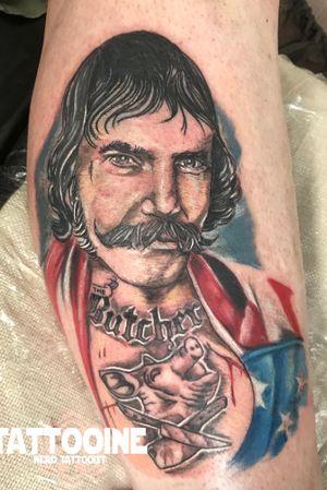 The butcher tattoo #tattooartist #tattoos #blackandgreytattoo #tattoo #picoftheday #pictureoftheday #blackandwhite #blackandgreytattoo #horror#horrortattoo #nerd #nerdtattoo #comic #comictattoo #marvel #marveltattoo #dc #dctattoo #drawings_academy #color #colortattoo #ironman