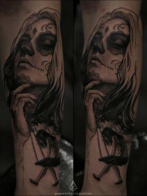 #DiaDeLosMuertosTattoo first session . . #dayofthedeadgirltattoo #dayofthedeadtattoo #tattooartistfromCT #tattoofromhell #customtattoo #darkart #artist #tattooartistfromCT #tatuajesenCt #MannyTattooArtist #ManuelCruzTattooArtist #blackandgraytattoo #blackworktattoo #art #artistinCT #artist #darkarts #blackarktattoo #ArtFromHell #tattooartistfromCT #tattoofromhell #illustration #portrait #tattoo #realismtattoo #ManuelCruzTattooArtist #guywithtattoos