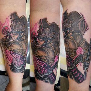 Had fun tattooing this Gambit