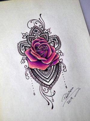 #ornamentaltattoo #tatuagemornamental #rose #rosetattoo #rosatattoo #thiagopadovani