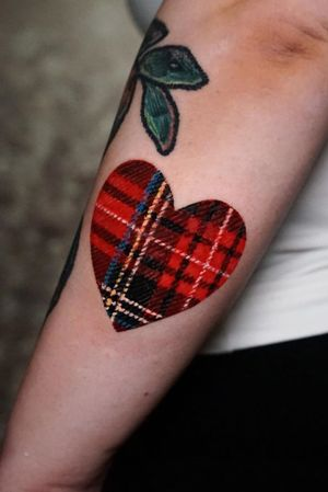 Scottish pattern tattoo