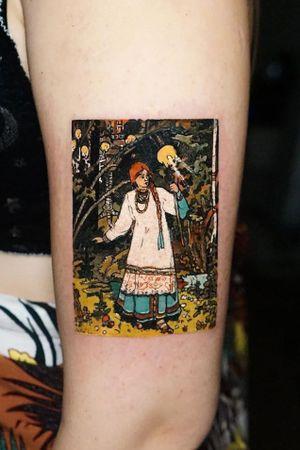 russian fairytale tattoo