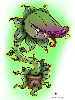 Planta carnívora😊 . . #tete #tattoo #artist #sketchtattoo #ink #girltattoo #inkartist #inktattoo #spaintattoo #tattoed #spaintattooartist #instattoo #artwork #cute #cartoonstyle #cartoon #available #kawaii #carnivorousplant #plantacarnivora #plant #funny #ilovemywork #working #vegan #green #sketch #sketchbook #challenge