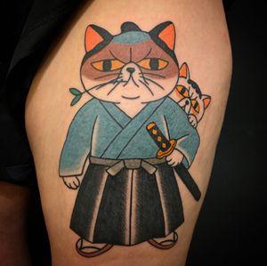 Samurai cats😼  侍キャット😼 Thank you for coming from Australia🇦🇺✨ . . . . . #irezumi #tattoo #oldschooltattoo #traditionaltattoos  #traditionaltattoo #classictattoo #vintagetattoo #japanesestyle  #japanesetattoo #tatouage #tätowierung #tatuaje #tokyotattoo #kawaiitattoo #cattattoo #nytattoo #californiatattoo #floridatattoo #taipeitattoo #tatuering #sydneytattoo #hongkongtattoo #stockholmtattoo #tokyo #japan #문신  #タトゥー #刺青 #東京 #日本