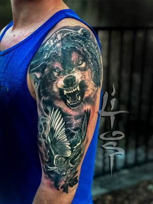 Wolf tattoo project, Family tribute of protection.