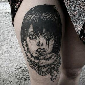 #kuro #kurotrash #tattoo #tattooing #tattoos #tattooed #tattooer #black #blackandwhite #blackwork #blackworkers #ink #inked #onlythedarkest #blackink #tattooart #tattooartist #vienna #wien #sketchy #sketching #sketch #blackink #tattooartist #horror #japanese #gore #anime #manga #blackandgrey