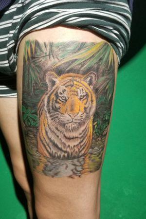 #tiger #tigertattoo #tattoocolors #colortattoo